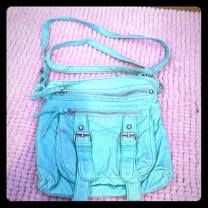 Maurices crossbody teal green bag